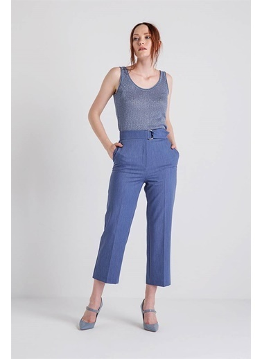 Rue Tokalı Kısa Pantolon Mavi
